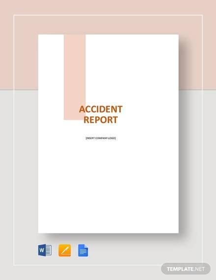 sample accident report