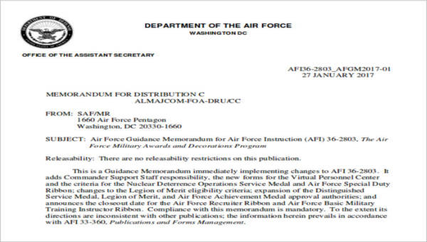 6  sample air force recommendation letters