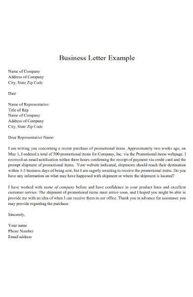 sample business letter in pdf