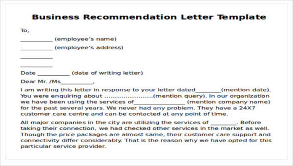 Business Recommendation Examples: 9 Sample Business Recommendation Letters