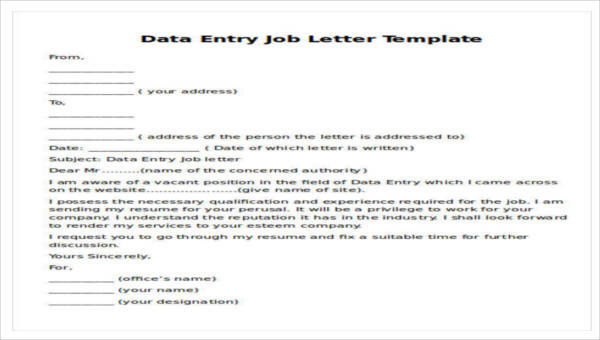 Sample Job Proposal Letter 7 Examples In Pdf Word