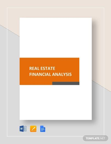 sample real estate financial analysis