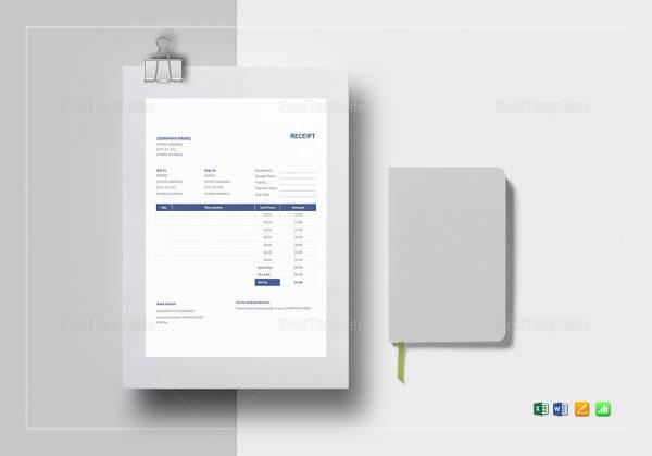 sample receipt format template