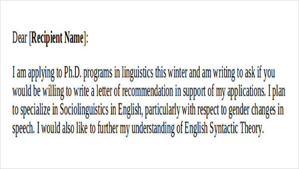 img a recommendation request letter