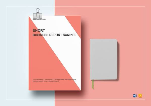 sample short business report template