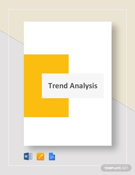 sample trend analysis