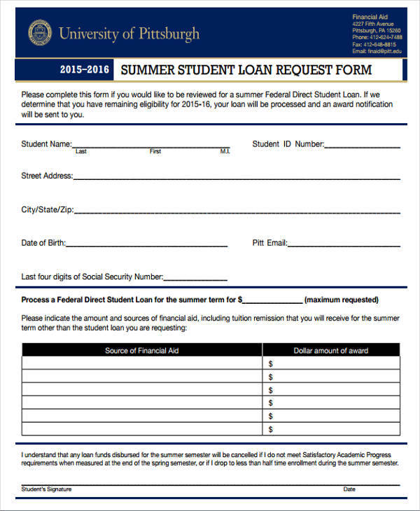 summer loan request