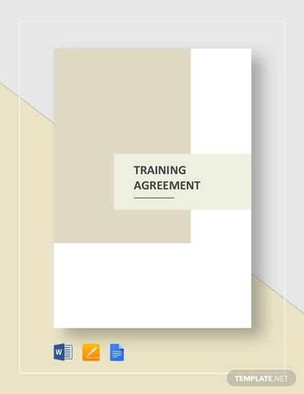 training agreement template