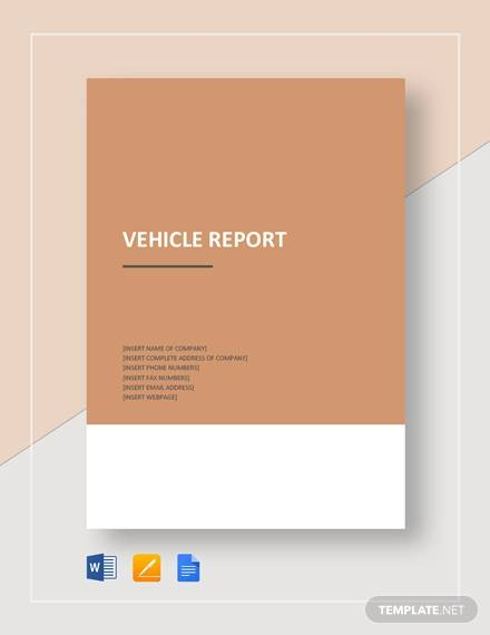 vehicle report