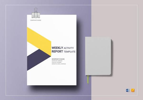 weekly activity report template