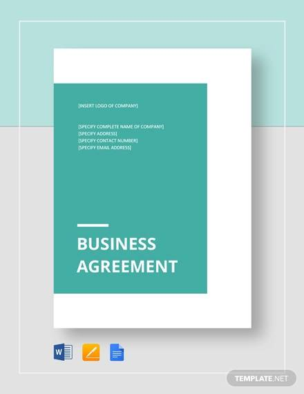 business agreement between two parties