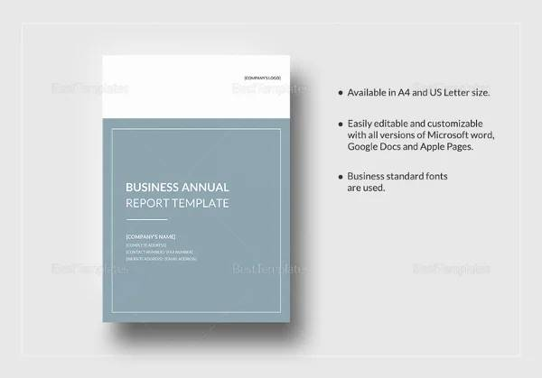 business anual template