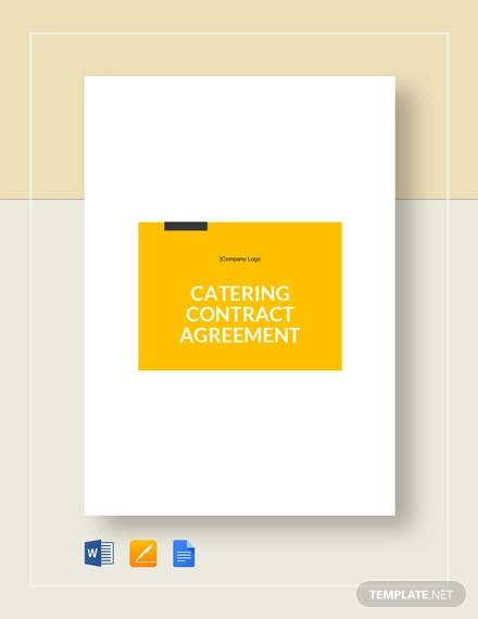 catering agreement contract