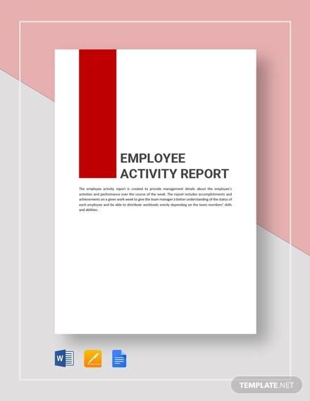 employement report template