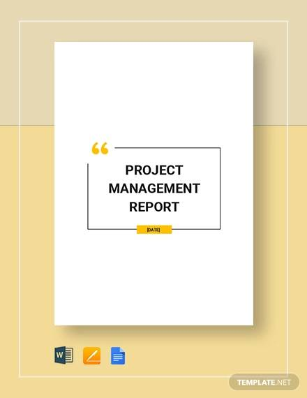 project management report sample1