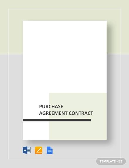 purchase agreement contract
