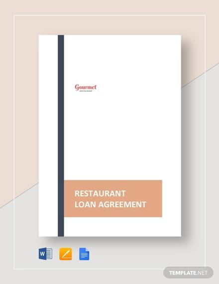 restaurant loan agreement