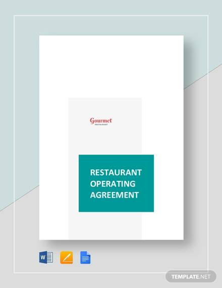 restaurant operating agreement