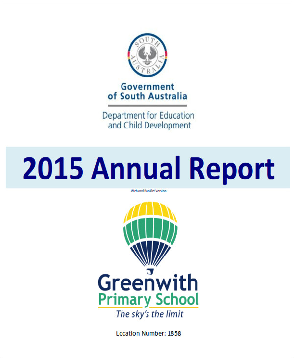 school annual report format
