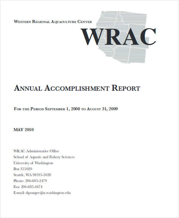 41 Report Format Samples – Accomplishment Report Format