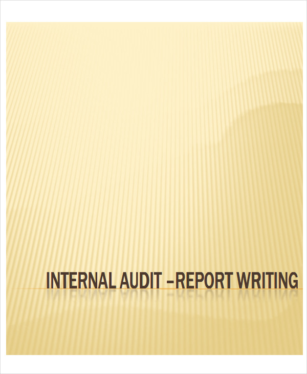 standard internal audit report format