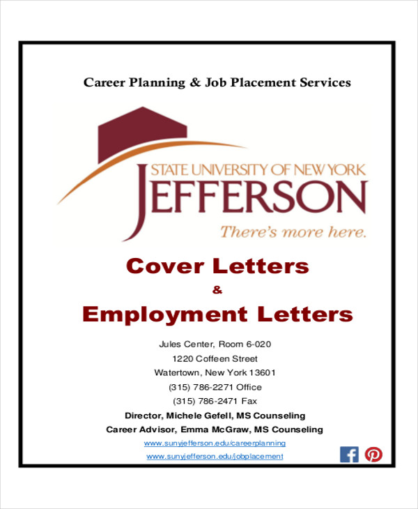 Cover Letters Employment Letter  Sample Cover Letters For Employment