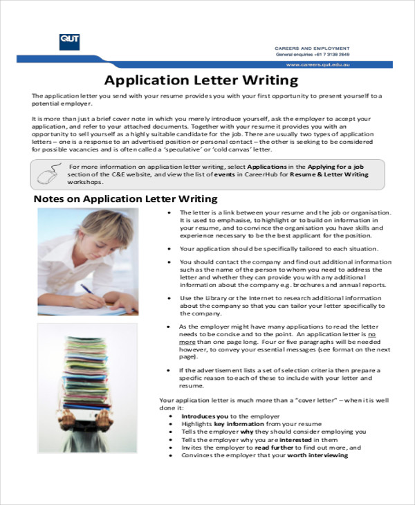 job application letter in pdf format