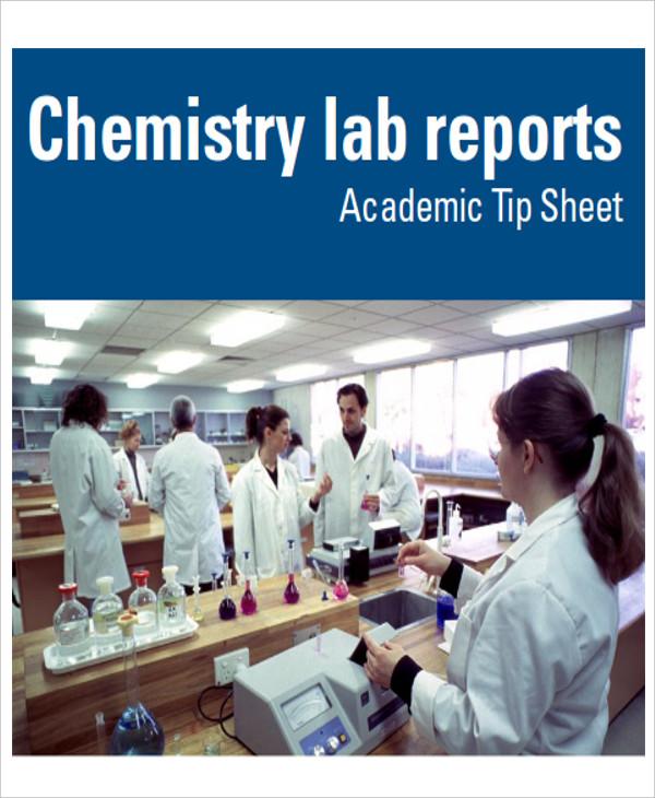 chemistry lab report format