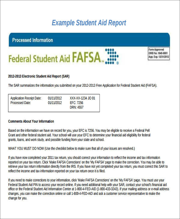 11 Sample Student Report - Free Sample, Example, Format Download