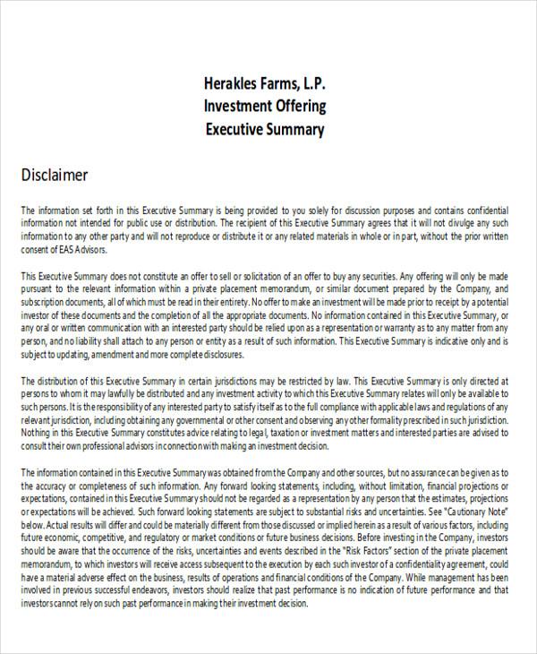 investment executive report pdf