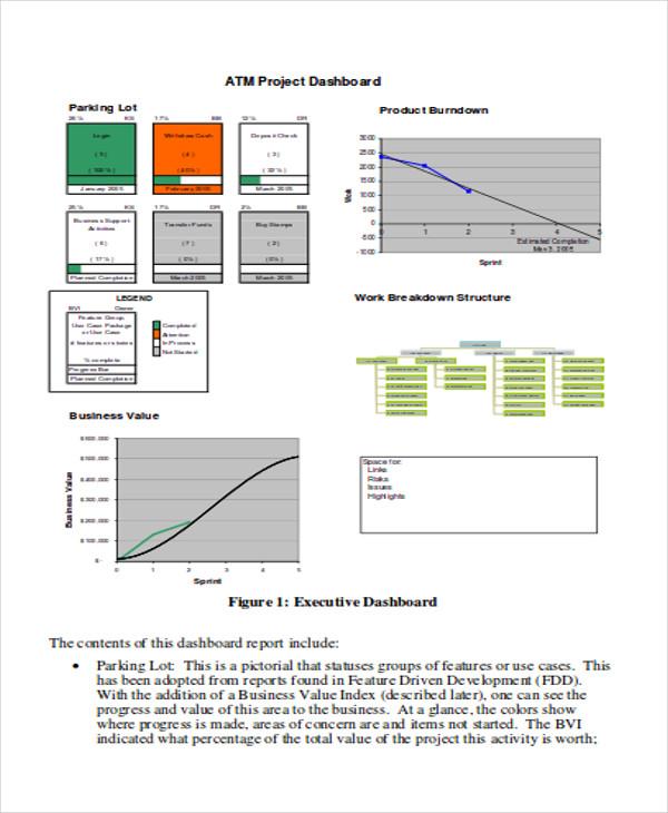 sample executive status report