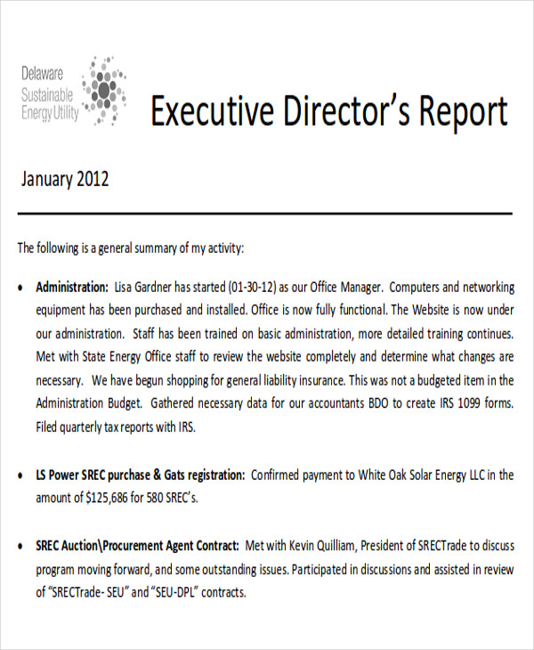 10+ Sample Executive Report   Free Sample, Example, Format Download