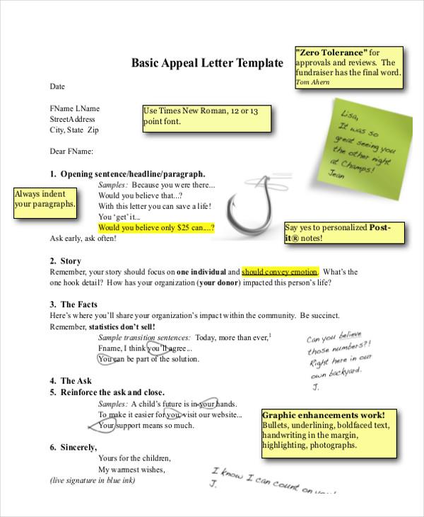 basic appeal letter