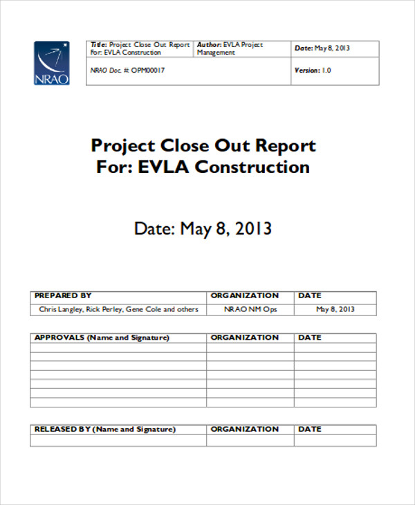 Construction Project Status Report Free  Construction Site Report Template
