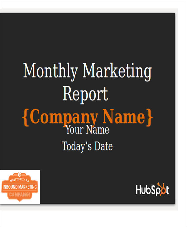 Sample Marketing Report  Free Sample Example Format Download