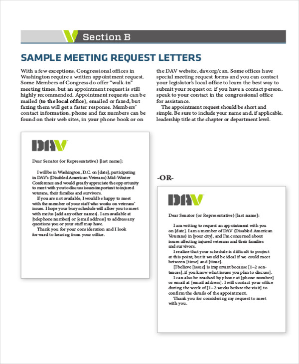 meeting request letter