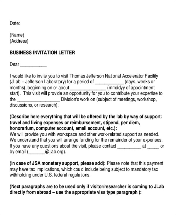 Letters in pdf business invitation letter stopboris Gallery
