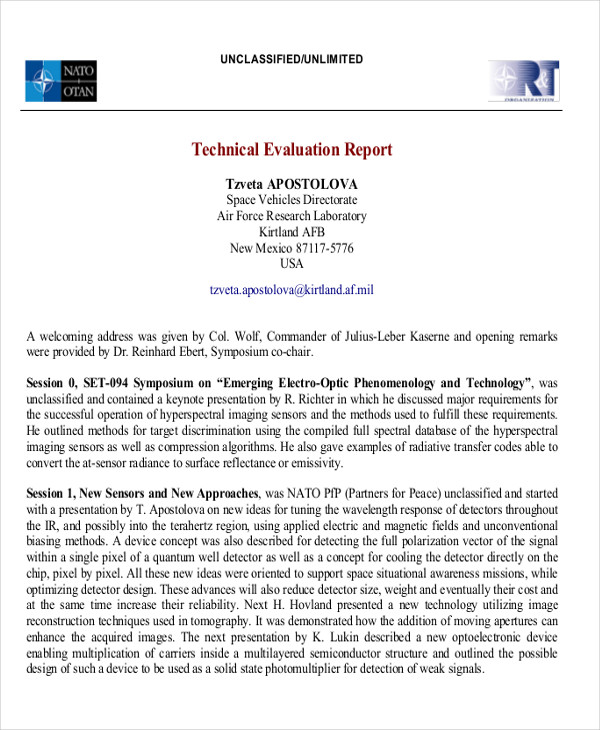 8+ Sample Technical Report - Free Sample, Example, Format Download