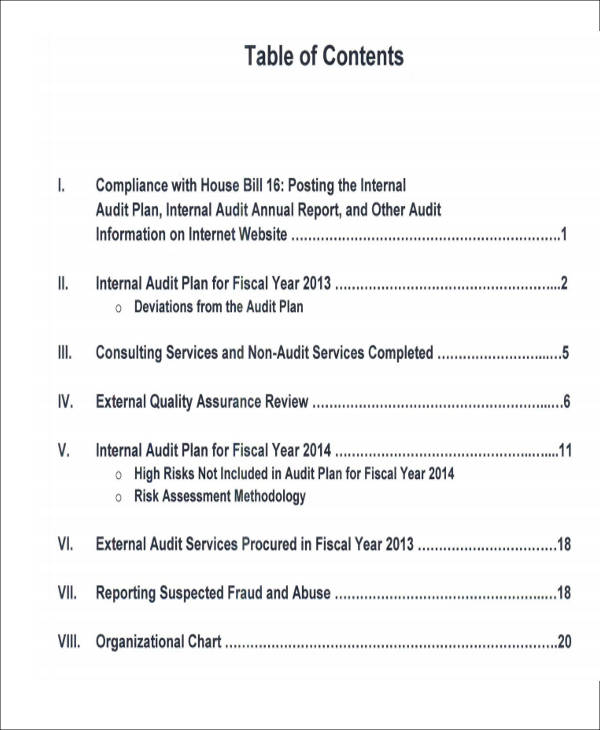 Sample Internal Audit Report   Examples In Pdf Word