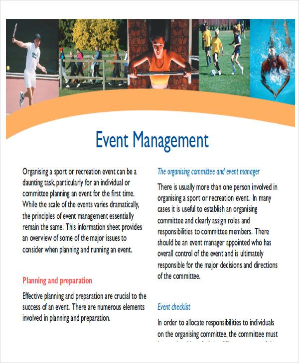 sample event management report