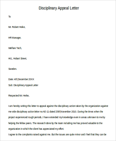 120 letter examples sample templates disciplinary letter example altavistaventures Image collections