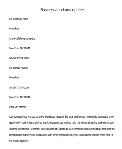business fundraising letter1