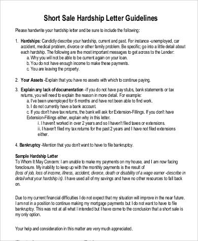 Sample Of Hardship Letter For Short Sale from images.sampletemplates.com
