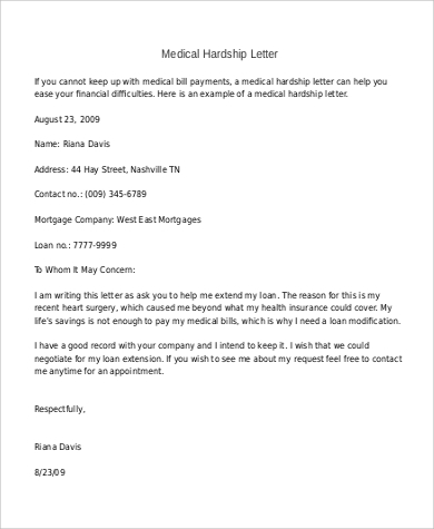 Letter examples 120 examples in pdf word medical hardship letter spiritdancerdesigns Gallery