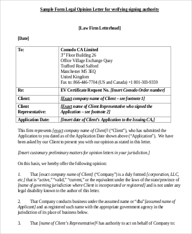 attorney opinion letters letter examples 120 examples in pdf word 5543