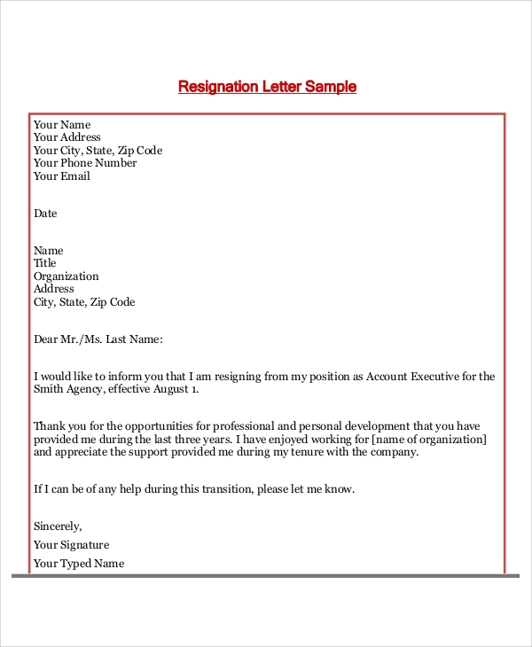 Thank you letter to boss after resignation gallery letter format 36 sample thank you letters sample templates thank you letter to boss after resignation expocarfo gallery expocarfo