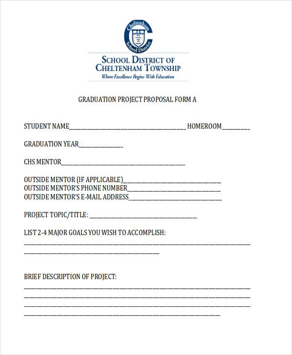 graduation project proposal form