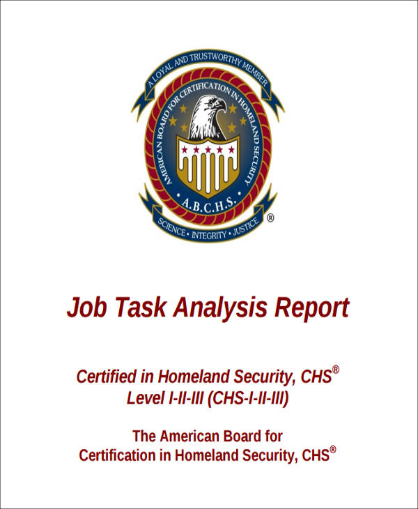 job task analysis report in pdf