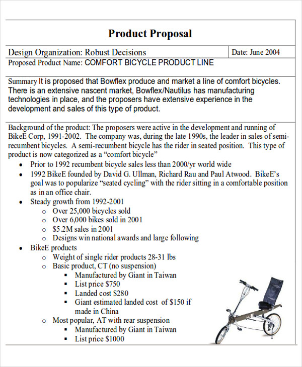 creative product proposal form