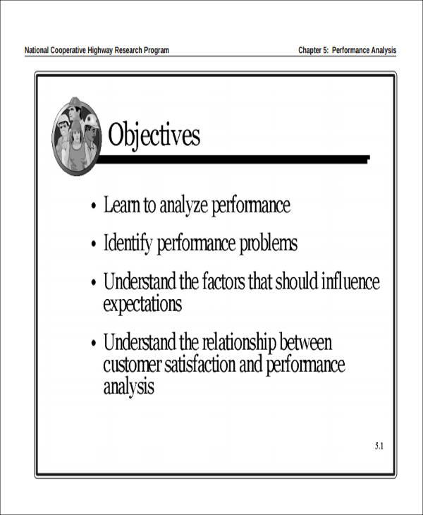 performance analysis report format